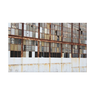 Exterior of an Old Factory Warehouse Canvas Print