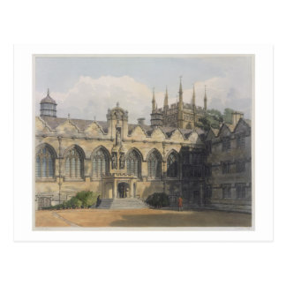 Exterior of Oriel College, illustration from the ' Postcard