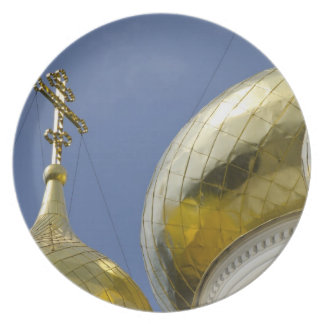 Exterior of Saint Alexander Nevsky Cathedral 4 Party Plate
