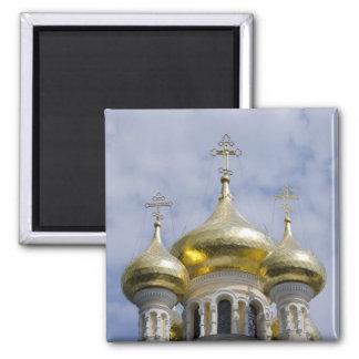 Exterior of Saint Alexander Nevsky Cathedral Square Magnet