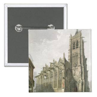 Exterior of the Church of St. Severin, Paris Pinback Buttons