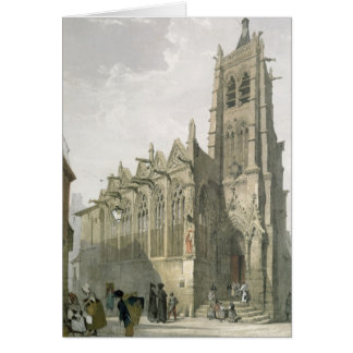 Exterior of the Church of St. Severin, Paris Card
