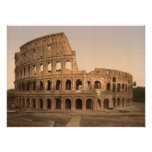 Exterior of the Colosseum, Rome, Italy Poster