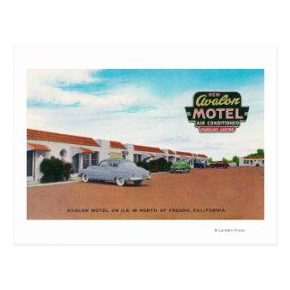 Exterior View of Avalon MotelFresno, CA Postcard