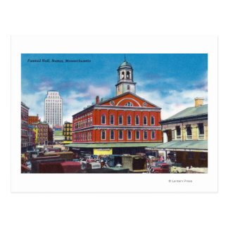 Exterior View of Faneuil Hall Postcard