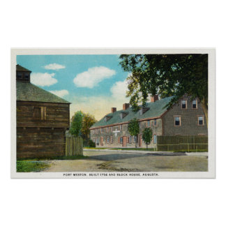 Exterior View of Fort Weston and Block House Posters