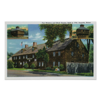 Exterior View of Ft. Western and Block Houses Poster
