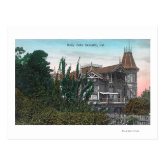 Exterior View of Holly Oaks Building Postcard
