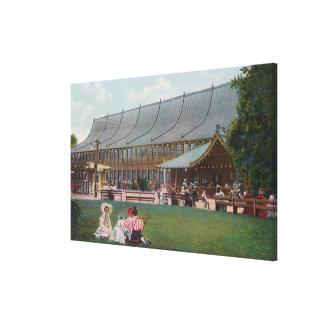 Exterior View of Idora Park Skating Rink Canvas Print
