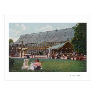 Exterior View of Idora Park Skating Rink Postcard