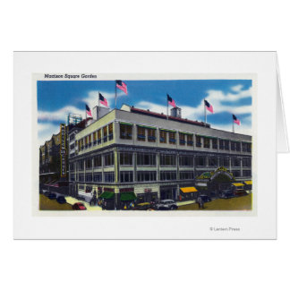 Exterior View of Madison Square Garden Greeting Card