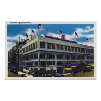 Exterior View of Madison Square Garden Print