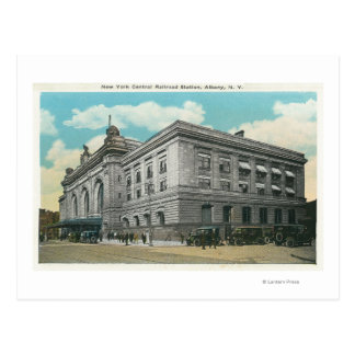 Exterior View of NY Central Railroad Station Postcard