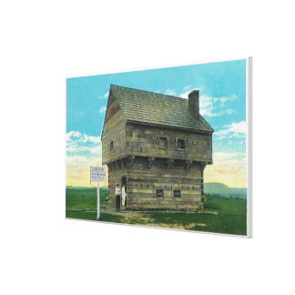 Exterior View of Period Block House Gallery Wrapped Canvas