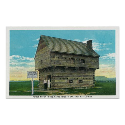 Exterior View of Period Block House Poster