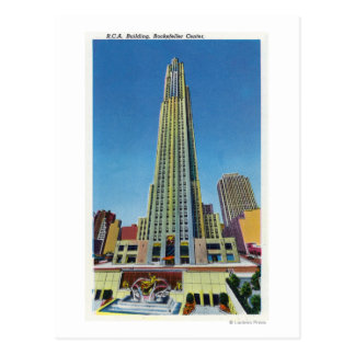 Exterior View of RCA Bldg, Rockefeller Center Post Cards