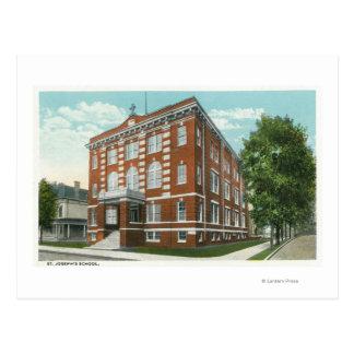 Exterior View of St. Joseph's School Postcard
