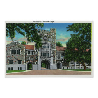 Exterior View of Taylor Hall, Vassar College Poster