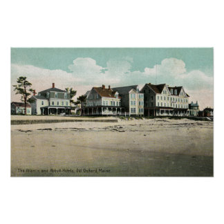 Exterior View of the Atlantic and Abbott Hotels Poster