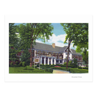 Exterior View of the Berkshire Inn Postcard