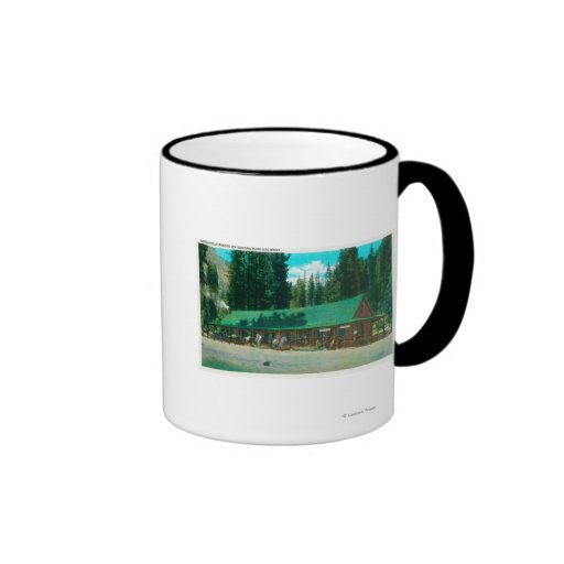 Exterior View of the Dardanelle Resort Coffee Mugs