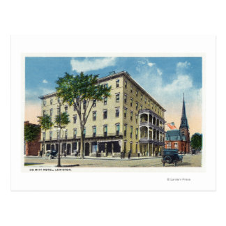 Exterior View of the De Witt Hotel Postcard