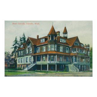 Exterior View of the Hotel Centralia Poster