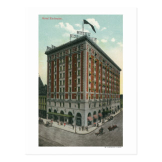 Exterior View of the Hotel Rochester Postcard