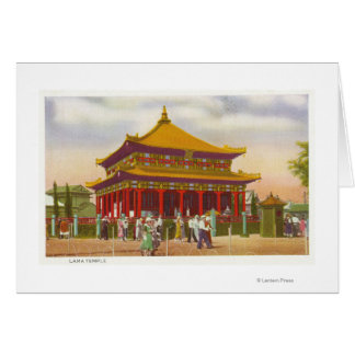 Exterior View of the Lama Temple Card
