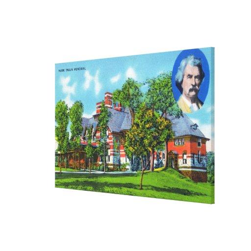 Exterior View of the Mark Twain Memorial Canvas Print