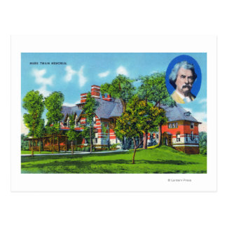 Exterior View of the Mark Twain Memorial Postcard
