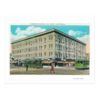Exterior View of the Porter Building Postcard