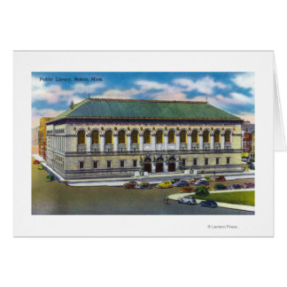 Exterior View of the Public Library Card