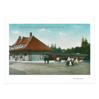 Exterior View of the Railway Station Postcard