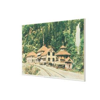 Exterior View of the ResortShasta Springs, CA Canvas Print