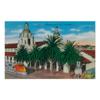 Exterior View of the Santa Fe Station Poster