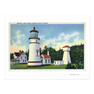 Exterior View of the Umpqua LighthouseCoast Postcard
