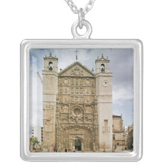 Exterior view of the west fa�ade silver plated necklace