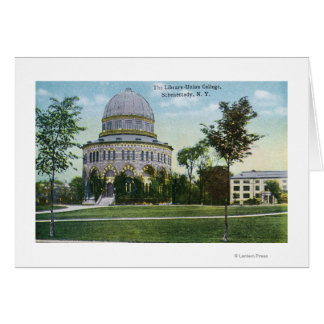 Exterior View of Union College Library Card