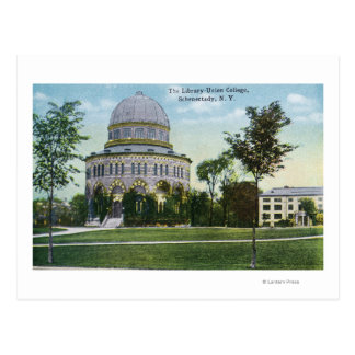 Exterior View of Union College Library Postcard