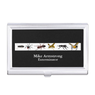 Exterminator Pest Control Insects Bugs Business Card Holder