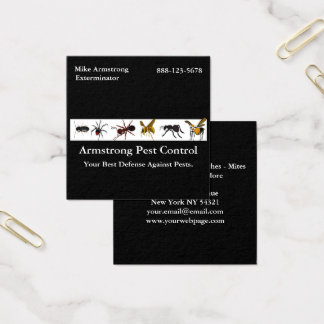 Exterminator Pest Control Insects Bugs Square Business Card