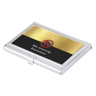 Exterminator Pest Control Mouse Rodents Business Card Holder