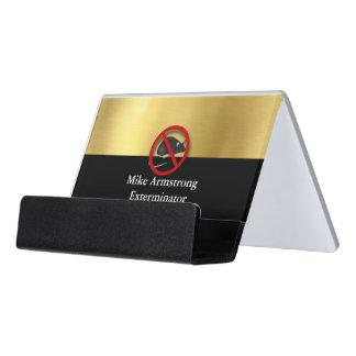 Exterminator Pest Control Mouse Rodents Desk Business Card Holder