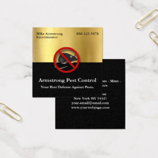 Exterminator Pest Control Mouse Rodents Square Business Card