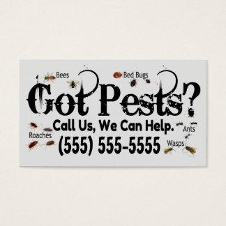 Exterminator Real Bugs Advertisement Business Card