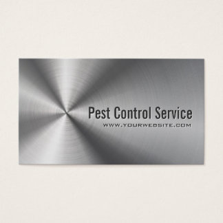 Exterminator Stainless Steel Metal Pest Control Business Card