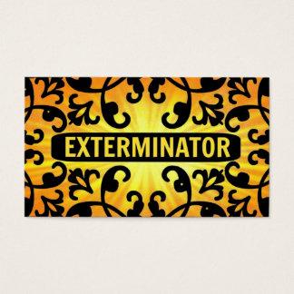 Exterminator Sunshine Damask Business Card