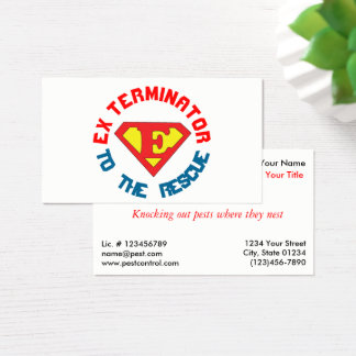 Exterminator to the Rescue Pest Service 2 Sided Business Card