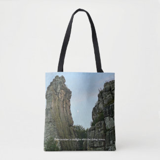 Externsteine in twilight 002.F.04T Tote Bag